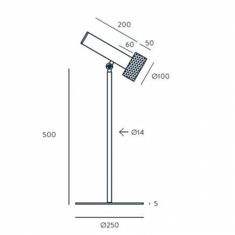 Lámpara de mesa Focus 1L GU10 - Aromas