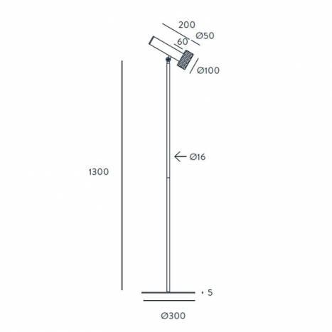 Lámpara de pie Focus 1L GU10 - Aromas