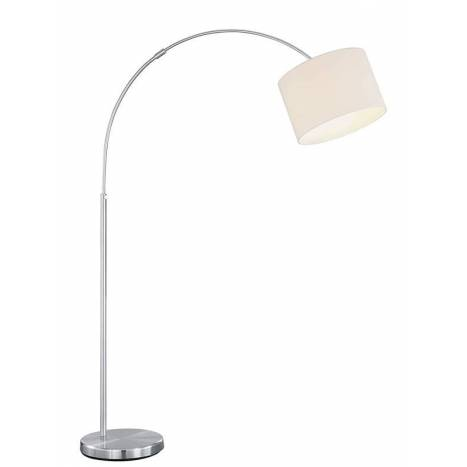 TRIO Texti floor lamp 1L nickel and white