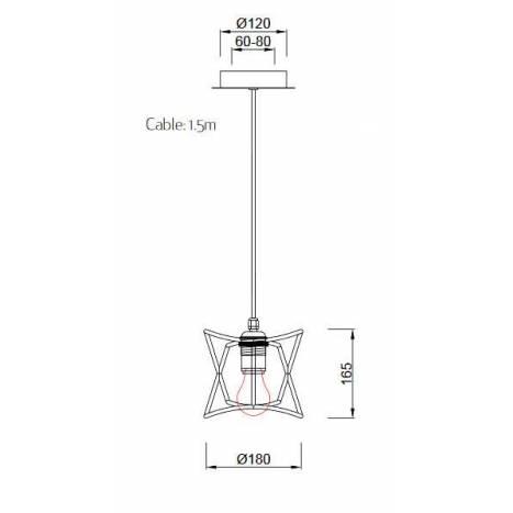 Lámpara cuerda Polinesia IP44 - Mantra