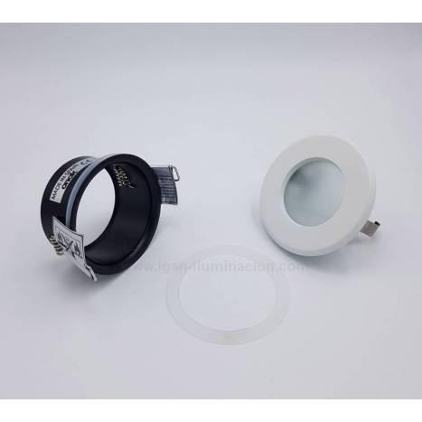 Foco empotrable 265 estanco IP65 circular blanco de Onok