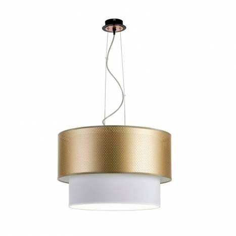 Lámpara colgante Perfo 3L tela - Ilusoria