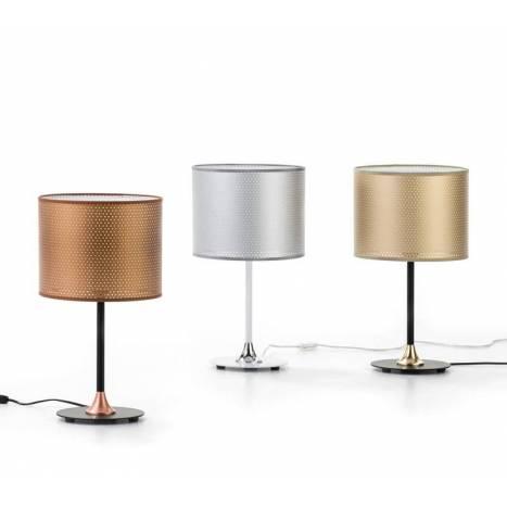 Lámpara de mesa Perfo 1L E27 tela - Ilusoria