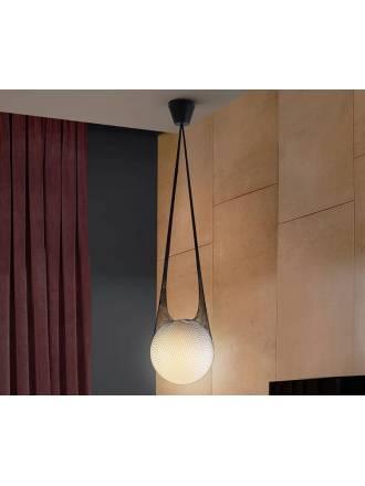 SCHULLER Globe 1L pendant lamp glass