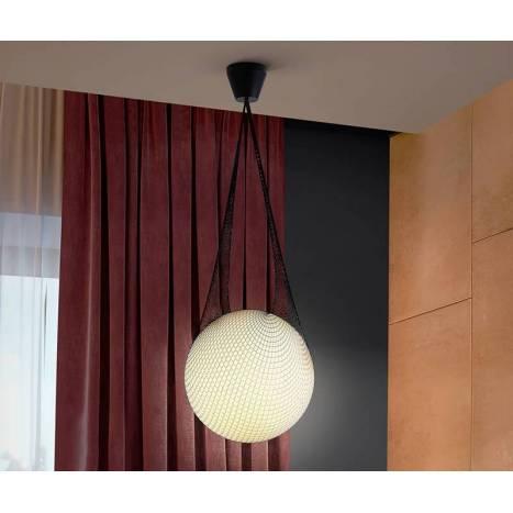Lámpara colgante Globe 1L cristal - Schuller