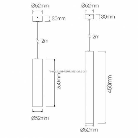 Lámpara suspendida Atmos GU10 - Beneito Faure