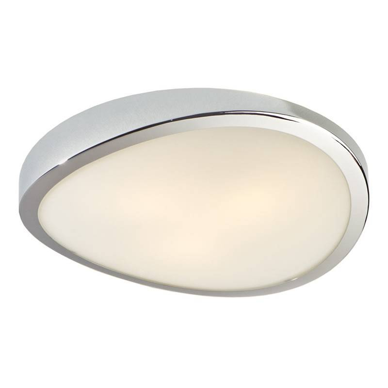 Plafon de techo Leda 3 luces cromo brillo y cristal Schuller
