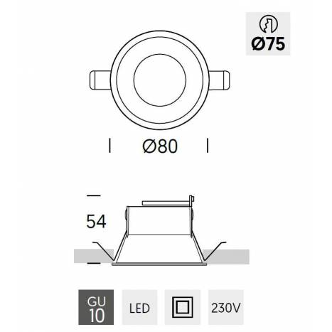 ONOK Kono 1 GU10 recessed light