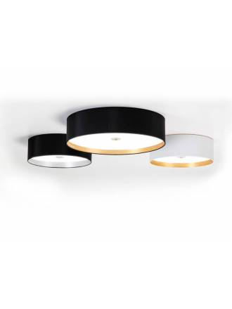 ILUSORIA Palo Alto LED 36w fabric ceiling lamp