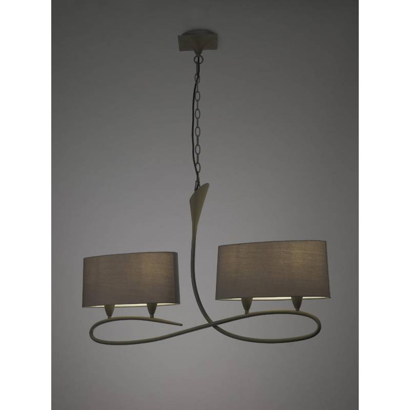 Mantra Lua pendant lamp 4L grey 4L E27