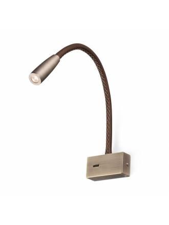 FARO Lead 3w LED wall lamp leather