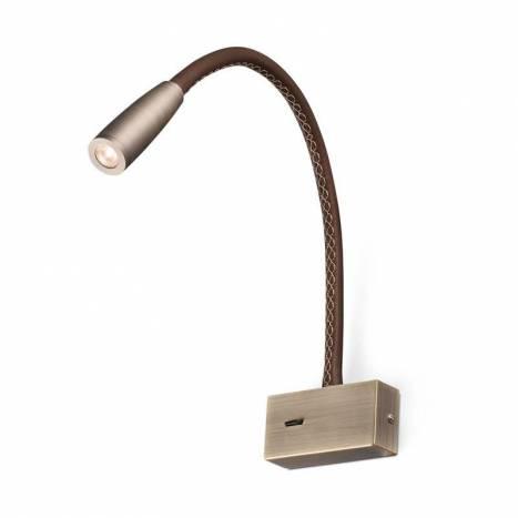 Aplique de pared Lead LED 3w piel - Faro