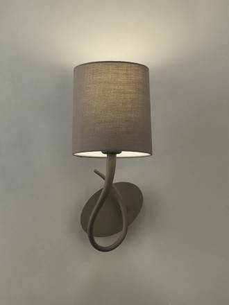 Mantra Lua wall lamp 1L E27 grey