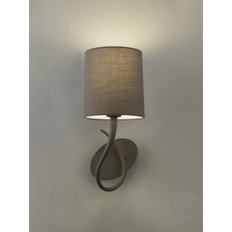 Mantra Lua wall lamp 1L E27 grey