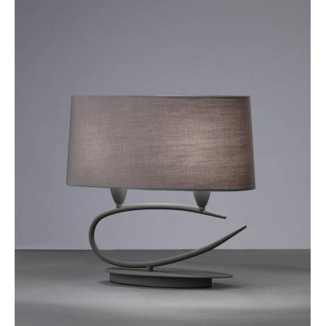 Mantra Lua table lamp 2L grey