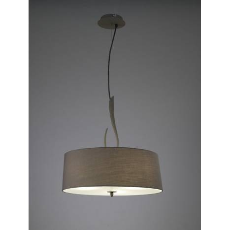 Mantra Lua pendant lamp 3L grey