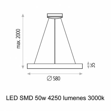 Lámpara colgante Grace LED blanco - ACB