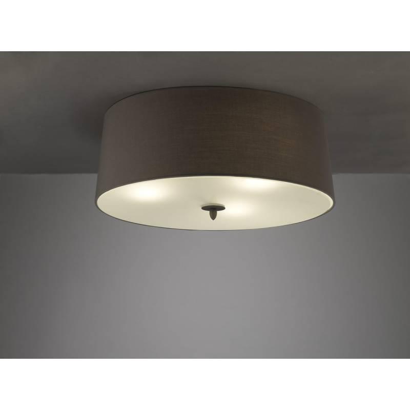 Plafon de techo Lua 3 luces pantalla gris de Mantra
