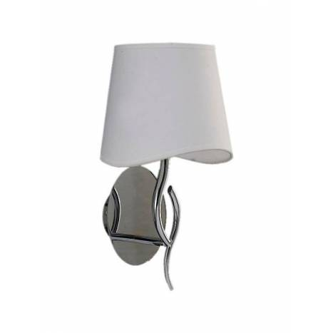 Mantra Ninette wall lamp 1L chrome white lampshade