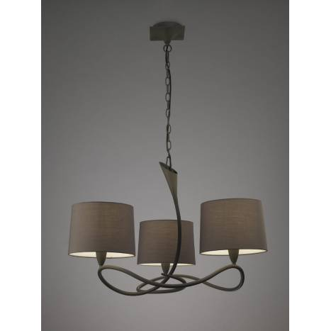 Mantra Lua pendant lamp 3L E27 grey
