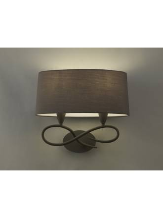 Mantra Lua wall lamp 2L grey