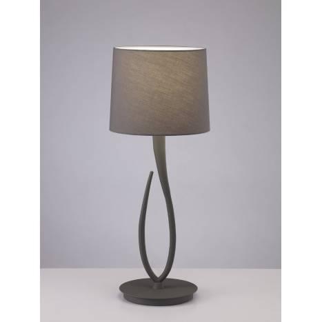 Lampara de mesa Lua 1 luz 61cm gris ceniza pantalla gris de Mantra