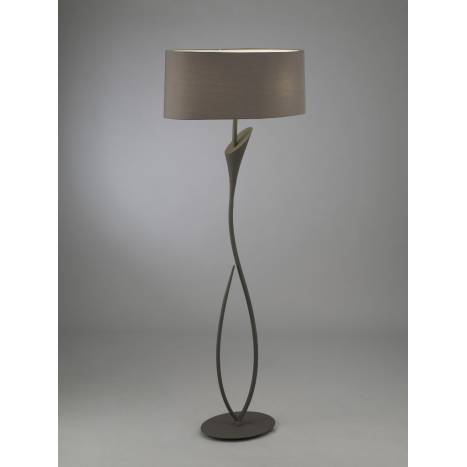 Mantra Lua floor lamp 2L grey lampshade