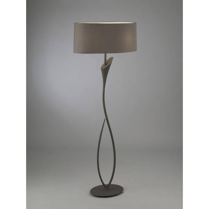 Mantra Lua floor lamp 2L grey lampshade