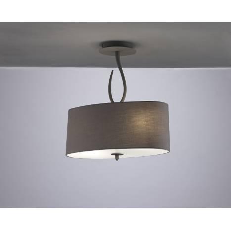 Mantra Lua semiceiling lamp 2L grey lampshade