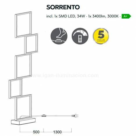 TRIO Sorrento LED 34w floor lamp