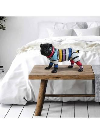 Figura Bulldog PQ franjas colores - Schuller