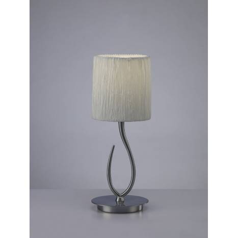 Mantra Lua table lamp 1L satin nickel