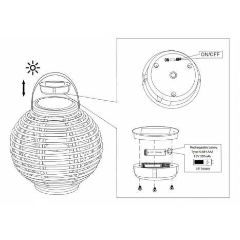Lámpara Carmelo Solar LED IP44 - Trio