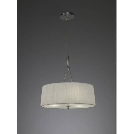 Mantra Lua pendant lamp 3L E27 nickel satin white