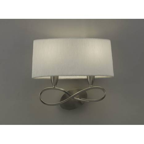 Mantra Lua wall lamp 2L nickel satin white