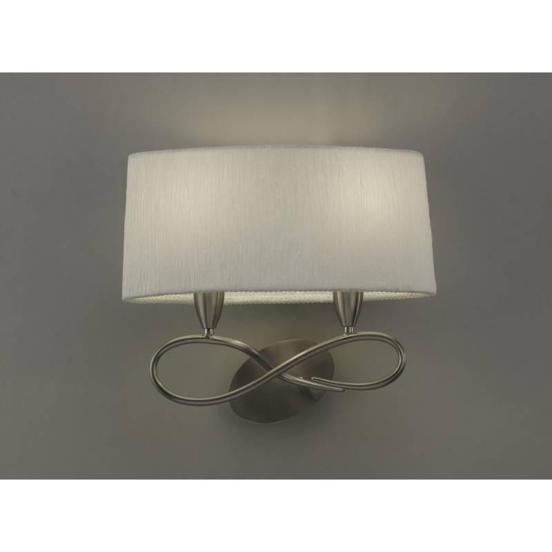 Mantra Lua wall lamp 2L nickel satin white