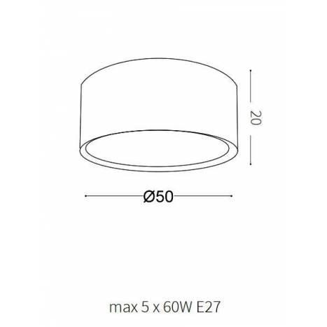 Plafón de techo Woody PL - Ideal Lux