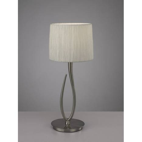 Mantra Lua table lamp 1L 61cm nickel satin white