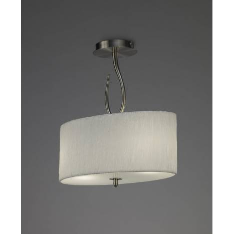 Mantra Lua semiceiling lamp 2L nickel satin white