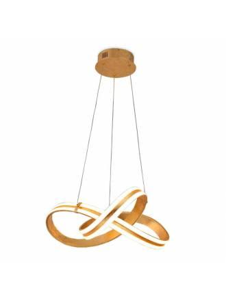 SCHULLER Lazas 56w gold leaf pendant lamp