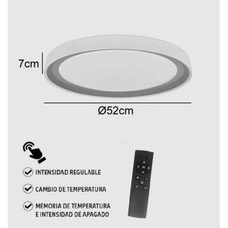 Plafón de techo Siena LED regulable + mando - Jueric