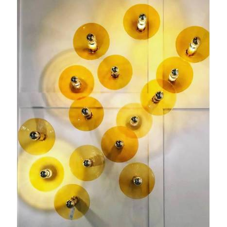 Aplique de pared Fest E27 cristal - Aromas
