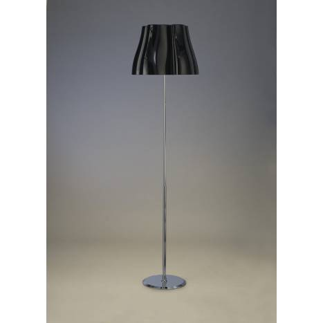 Mantra Miss floor lamp 3L chrome and black