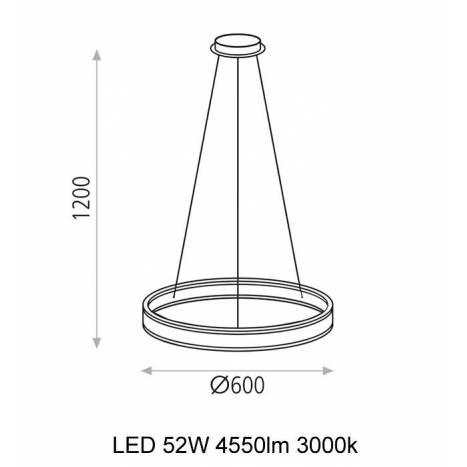 Lámpara colgante Nassau LED 52w blanco - ACB