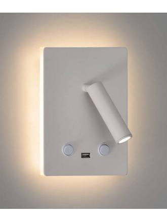 Aplique de pared Manat LED 3+12w USB - ACB