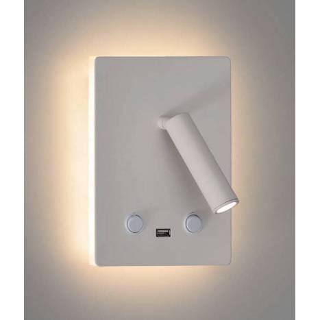 Aplique de pared Manat LED 3+12w USB - ACB