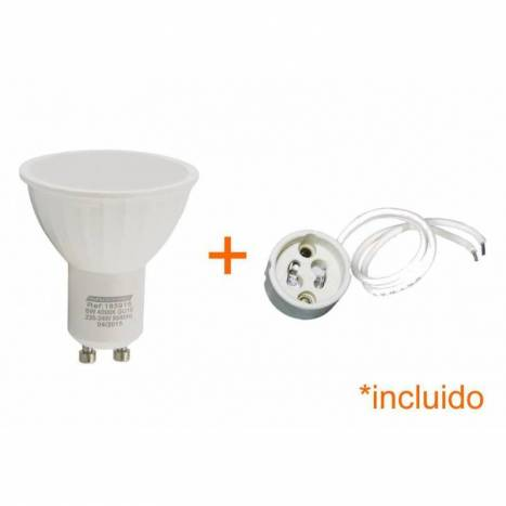 Foco empotrable LED 6w 3002 cuadrado negro basculante