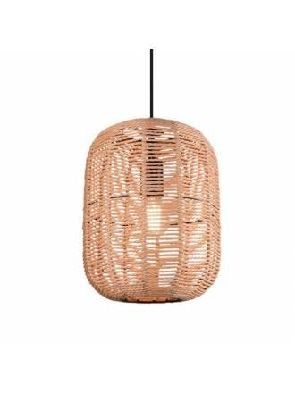 TRIO Runa E27 sisal pendant lamp