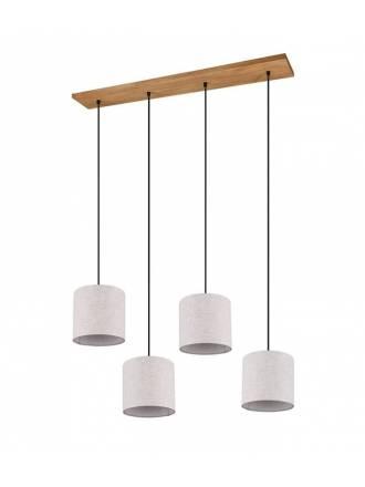 Lámpara colgante Elmau 4L E27 - Trio