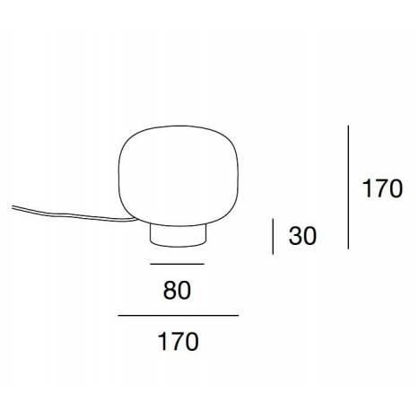 Lámpara de mesa Bulbo E27 - Massmi